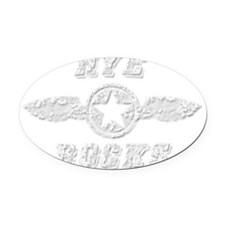 HYE ROCKS Oval Car Magnet
