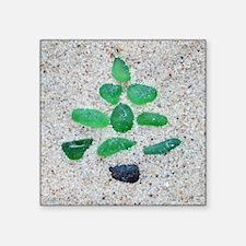 "beach glass Square Sticker 3"" x 3"""