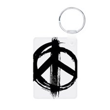 Peace sign - black Keychains