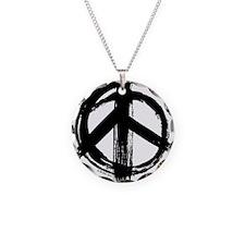 Peace sign - black Necklace