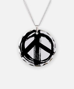 Peace sign - black Necklace