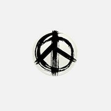 Peace sign - black Mini Button