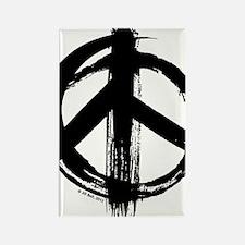 Peace sign - black Rectangle Magnet