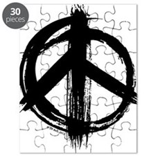Peace sign - black Puzzle