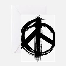 Peace sign - black Greeting Card