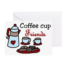 Coffee Cup Friends Greeting Card