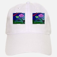 Dinosaurs and Asteroid Cartoon Baseball Baseball Cap