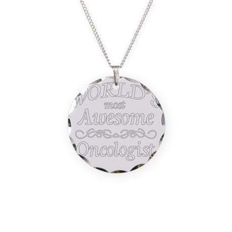 1 white Most Awesome oncolog Necklace Circle Charm