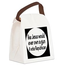 republicanjesusbutton Canvas Lunch Bag