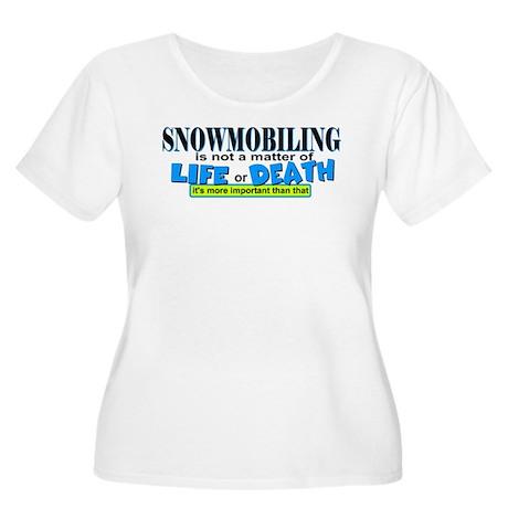 Life or Death Women's Plus Size Scoop Neck T-Shirt