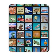 Mid-Century Vintage Signs Poster Mousepad