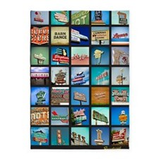 Mid-Century Vintage Signs Poster 5'x7'Area Rug