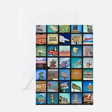 Mid-Century Vintage Signs Poster Greeting Card