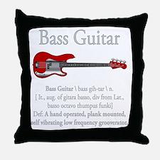 Bass Guitar LFG Throw Pillow