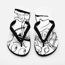 The Brave Little Toaster (Black) Flip Flops