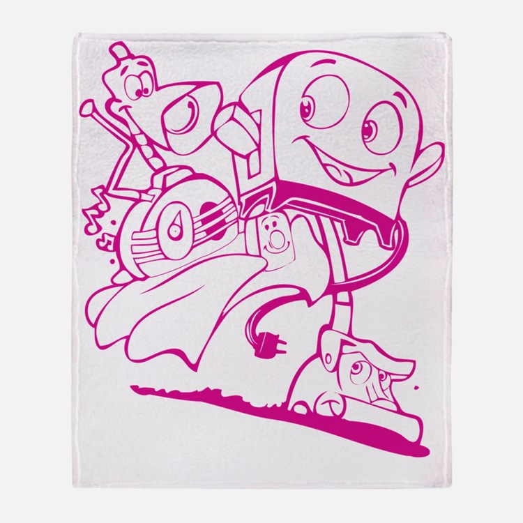 The Brave Little Toaster (Pink) Throw Blanket