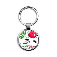 Merry Berry Label Round Keychain