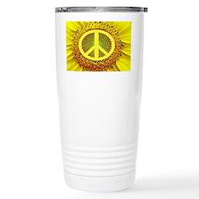 Sunflower Peace Travel Mug
