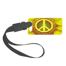 Sunflower Peace Luggage Tag
