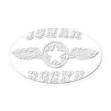 JONAH ROCKS Oval Car Magnet
