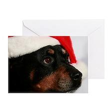 Rottweiler Santa Greeting Card