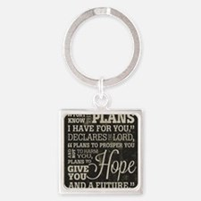 Hope and a Future Square Keychain