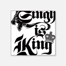 "Singh Is King Square Sticker 3"" x 3"""