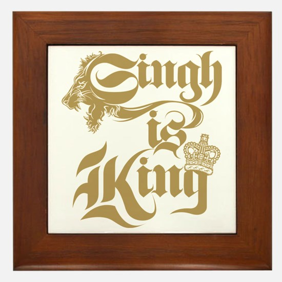 Singh Is King Framed Tile