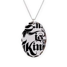 Singh Is King Necklace Oval Charm