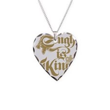 Singh Is King Necklace Heart Charm
