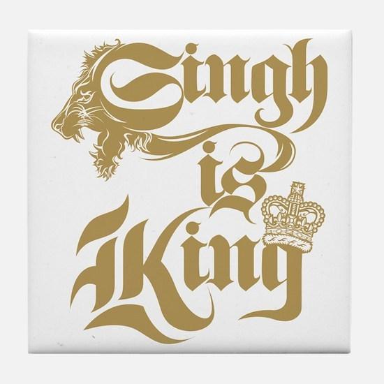 Singh Is King Tile Coaster