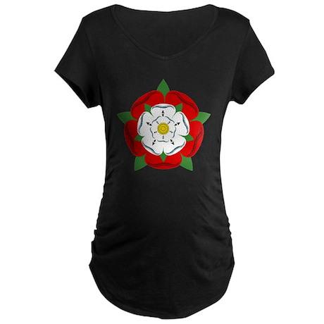 Heraldic Rose Maternity Dark T-Shirt