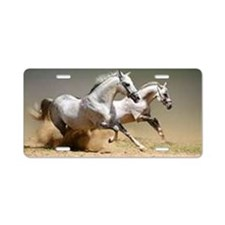 White horses Aluminum License Plate
