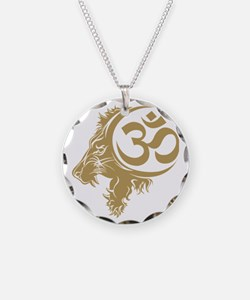 Singh Aum 1 Necklace Circle Charm
