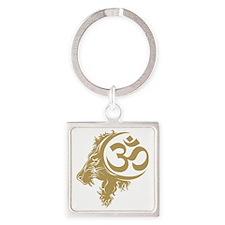 Singh Aum 1 Square Keychain