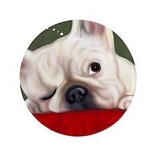 "Dreamy French Bulldog 3.5"" Button"