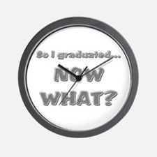 Graduation Now What? Wall Clock