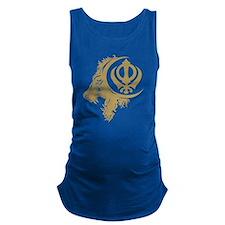 Singh Sikh Symbol 1 Maternity Tank Top
