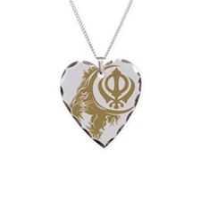 Singh Sikh Symbol 1 Necklace Heart Charm