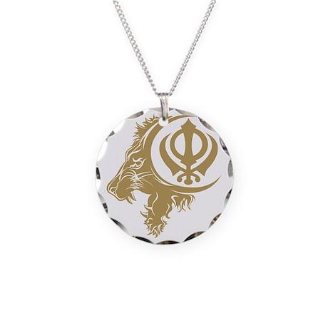 Singh Sikh Symbol 1 Necklace Circle Charm