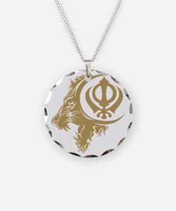 Singh Sikh Symbol 1 Necklace Circle Charm