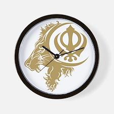 Singh Sikh Symbol 1 Wall Clock