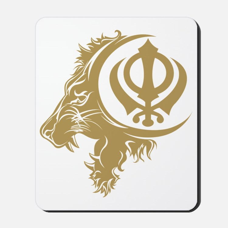Singh Sikh Symbol 1 Mousepad