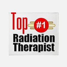 Top Radiation Therapist  Throw Blanket