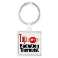Top Radiation Therapist  Square Keychain