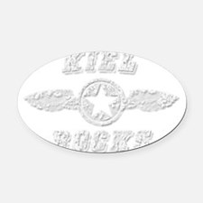 KIEL ROCKS Oval Car Magnet