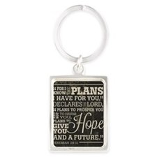 Hope and a Future Portrait Keychain
