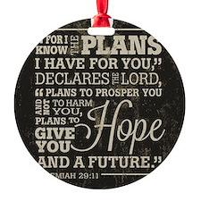 Hope and a Future Ornament