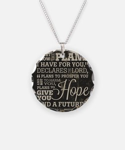 Hope and a Future Necklace Circle Charm