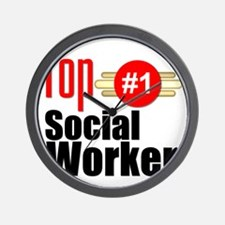 Top Social Worker  Wall Clock